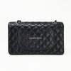 Final Payment: Chanel Classic  Black Quilted Caviar Medium Double Flap with silver hardware