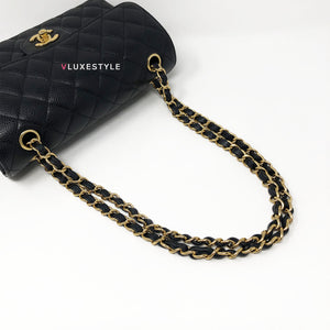 Chanel Classic Black Small Caviar Double Flap with gold hardware
