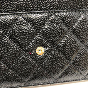 Chanel Classic Wallet on Chain Black Quilted Caviar with gold hardware