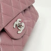 Chanel Classic Medium Double Flap Iridescent Mauve Lambskin with silver hardware