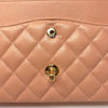 Chanel Vintage Classic Medium Double Flap Salmon Pink Quilted Caviar with 24k gold plated hardware