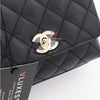 Chanel Extra Mini Coco Handle 20K Black Quilted Caviar with shiny light gold hardware