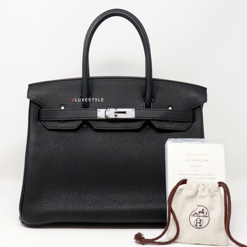 Hermes Birkin 30 Black Togo with palladium hardware