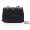Chanel Incognito Mini Square Flap Black Quilted Caviar with shiny black hardware