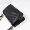 RESERVED Chanel Le Boy Old Medium 20C Black Chevron Caviar with ruthenium hardware