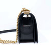Chanel Le Boy Old Medium Black Quilted Caviar with brushed gold hardware