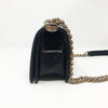 Chanel 19S Le Boy Small Black Chevron Caviar with shiny light gold hardware