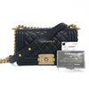 Trade with Wallet on Chain Boy with our Le Boy Black Caviar Small with gold hardware