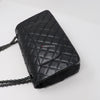 Chanel Reissue 18K So Black Quilted Calfskin with shiny black hardware size 225
