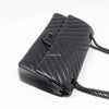 Chanel Reissue So Black Chevron Calfskin with shiny black hardware size 225