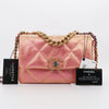 Chanel Small/Medium 19 Flap 21P Iridescent Pink Calfskin with mixed hardware