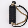 Chanel Small Le Boy 20S Black Chevron Caviar with shiny light gold hardware