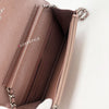 Chanel Wallet on Chain 19P Iridescent Rose Gold Caviar with silver hardware