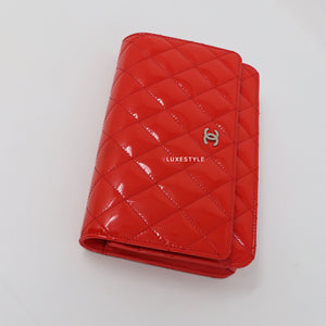 Chanel Classic Wallet on Chain Red Quilted with silver hardware