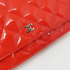 Partial payment: Chanel Classic Wallet on Chain Red Quilted with silver hardware