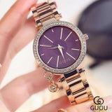 GUOU Luxury Diamond Wrist watch - Best Selling Good Quality Cheap Affordable