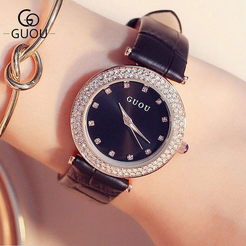 GUOU Fashion Diamond Women's Watch