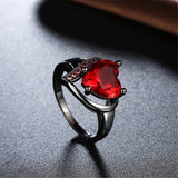 Love Heart Big Black Ring - Best Selling Good Quality Cheap Affordable