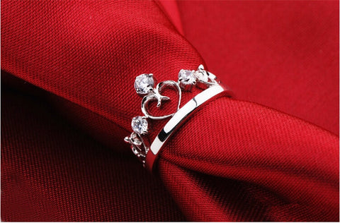 Silver Crown Ring for women - Best Selling Good Quality Cheap Affordable