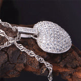Love Heart Crystal Pendant Necklace - Best Selling Good Quality Cheap Affordable