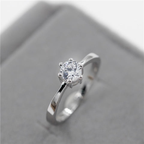 Crystal Silver Color Ring - Best Selling Good Quality Cheap Affordable