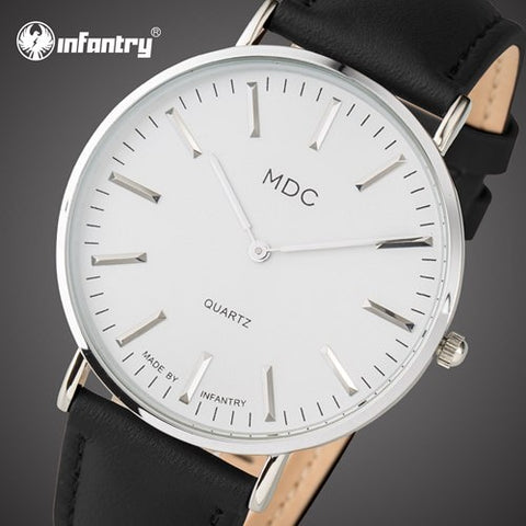 MDC Men's Watch with Leather Wrist