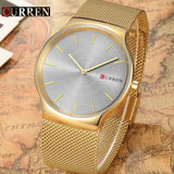Luxury Gold Full Steel Quartz Men's Watch - Best Selling Good Quality Cheap Affordable
