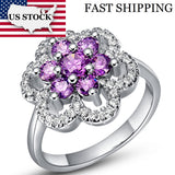 Exquisite Big Flower Silver Ring