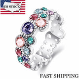 Round Mixed Color Ring