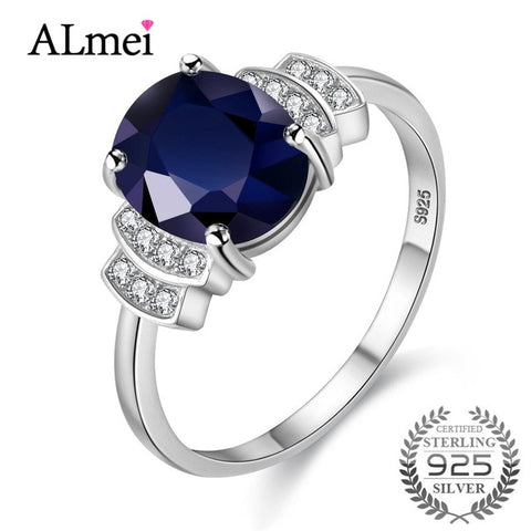Oval Spinel Ring, Sterling Solid Silver Fine Jewelry - Best Selling Good Quality Cheap Affordable