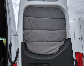 2019+ Mercedes Sprinter Premium Rear Barn Door Insulated Windows Covers (pair)