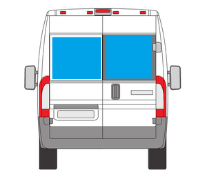 2014+ Dodge Promaster Rear Barn Door Window Covers (pair)