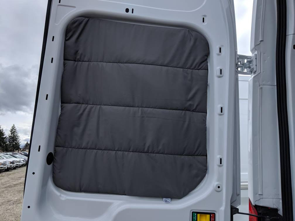 2015+ Ford Transit Premium Insulated Rear Barn Door Windows Covers (pair) Med/High Roof