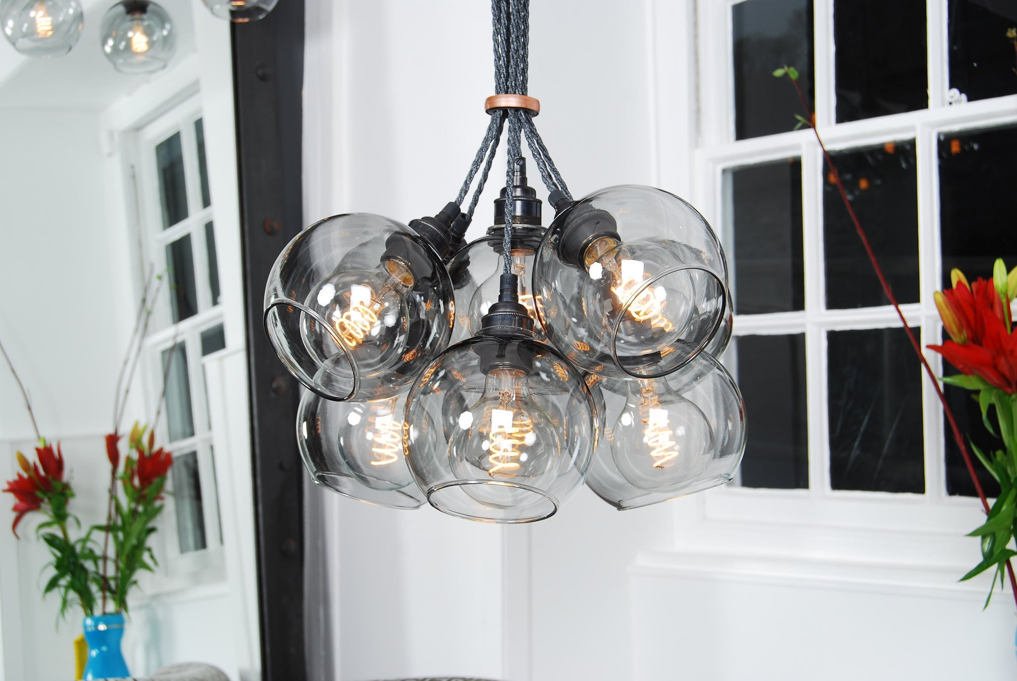 NEO Onyx Glass Chandelier