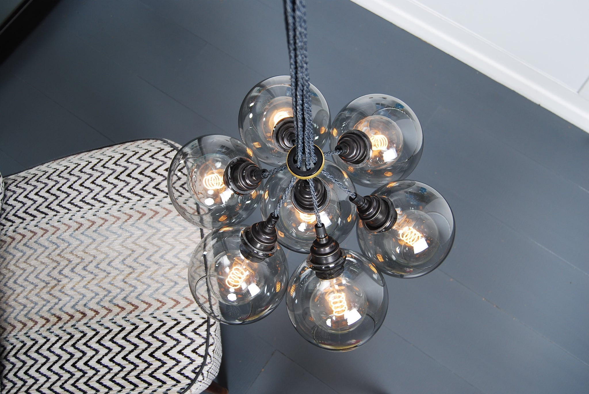 SPOT Onyx Glass Chandelier