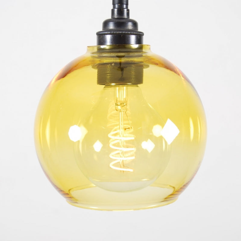 MONO 14cm Yellow Glass Pendant
