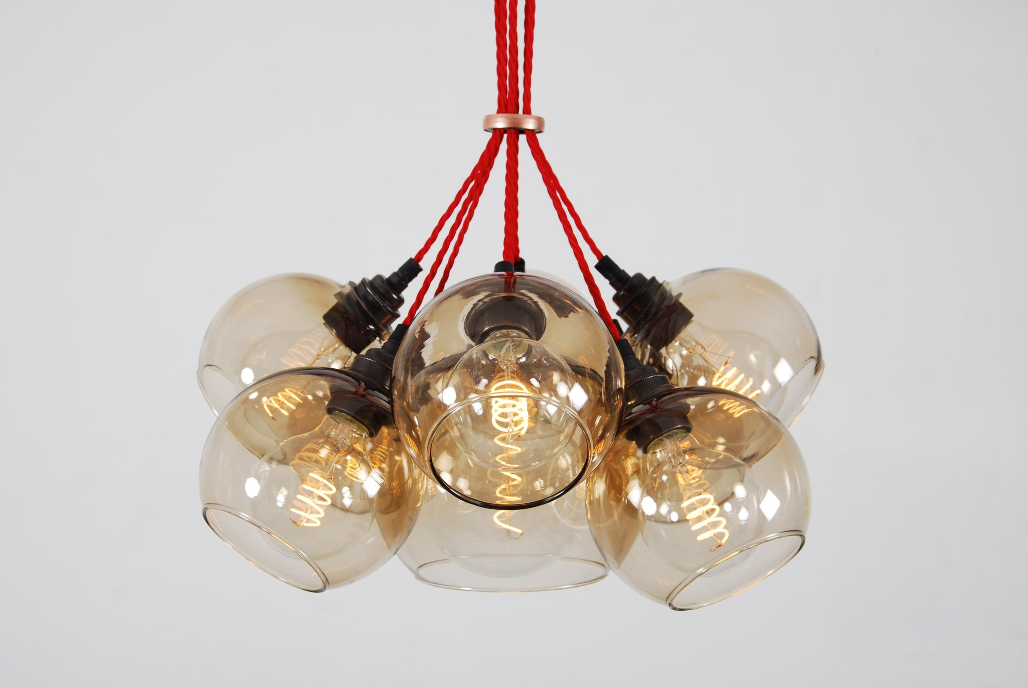 MEGA Brown Glass Chandelier