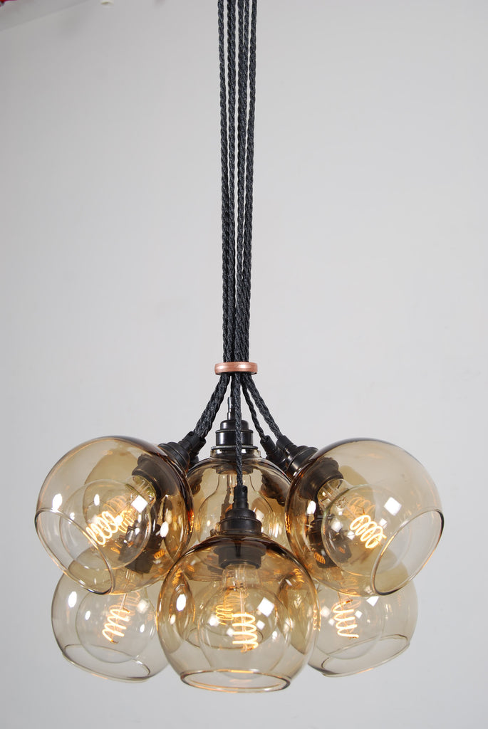 NEO Brown Glass Chandelier