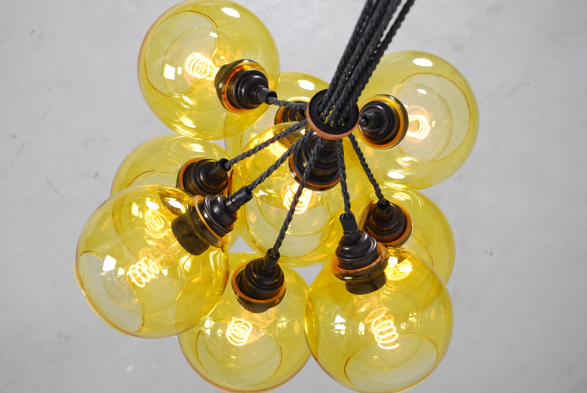 NEO Yellow Glass Chandelier
