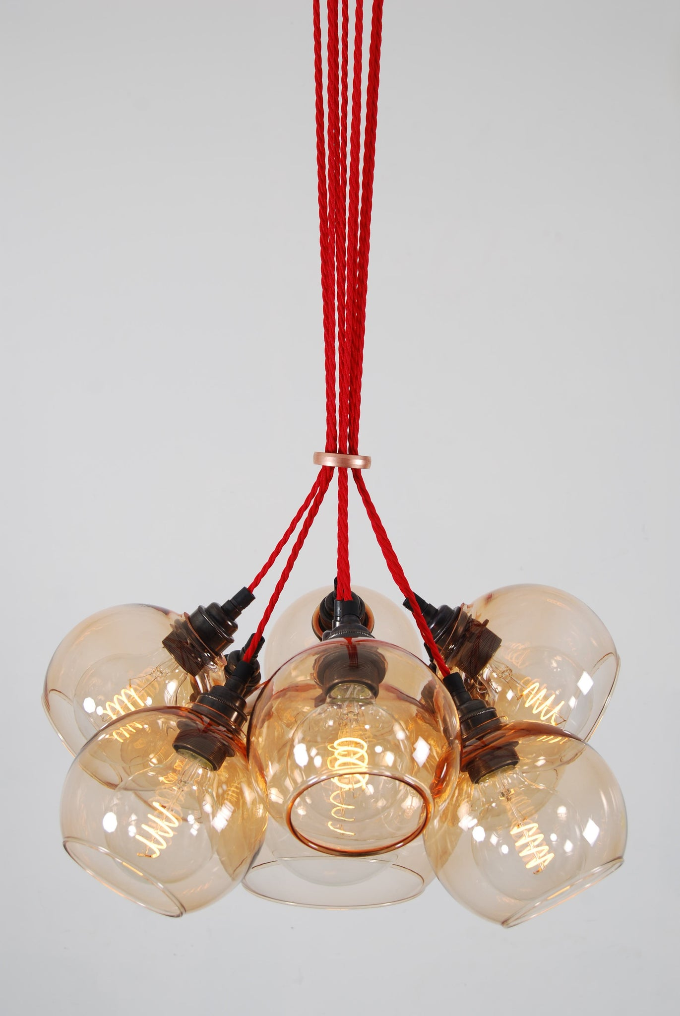 MEGA Copper Glass Chandelier