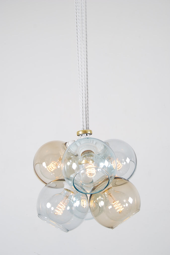 EXI Mix Three Glass Chandelier
