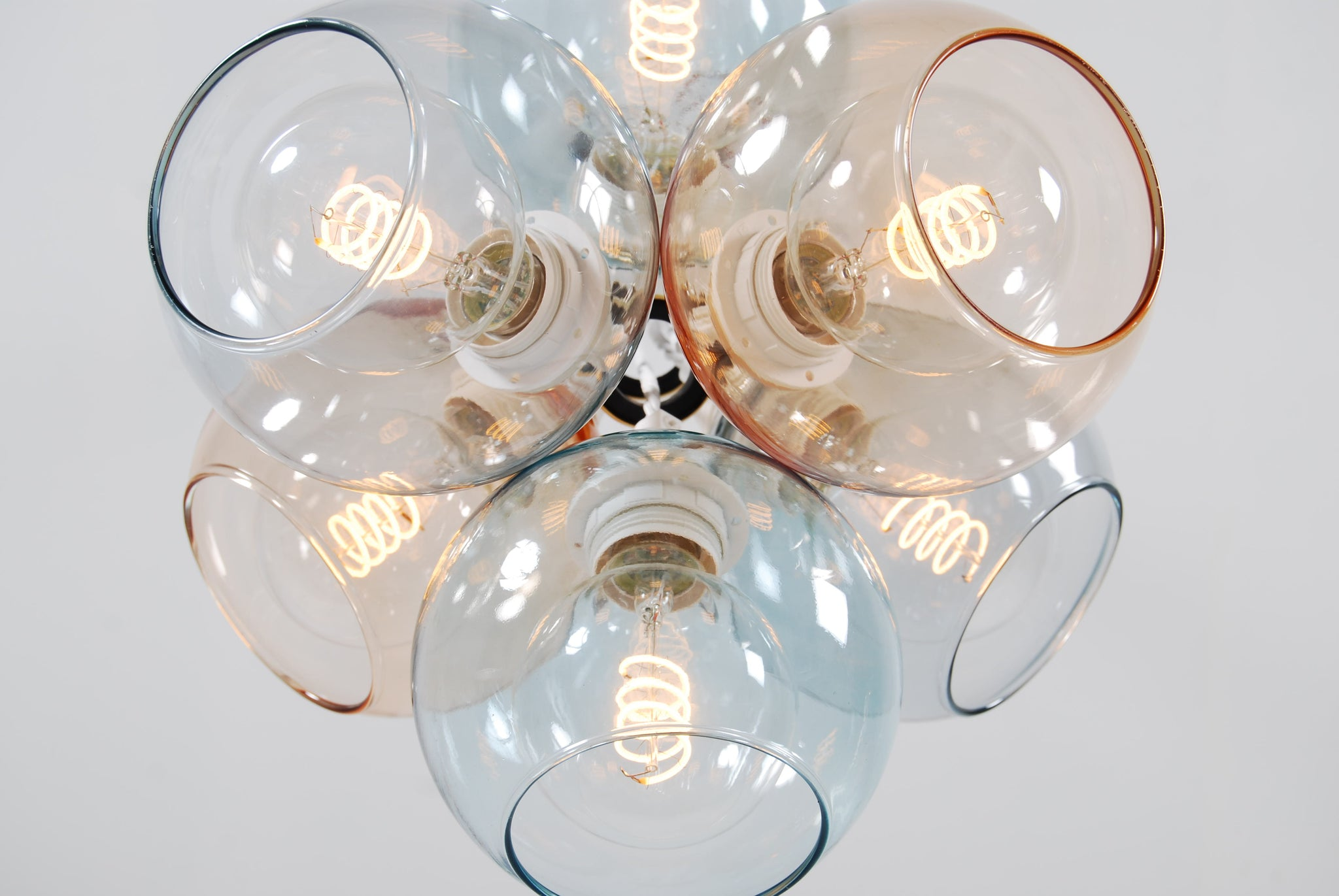 EXI Mix Two Glass Chandelier