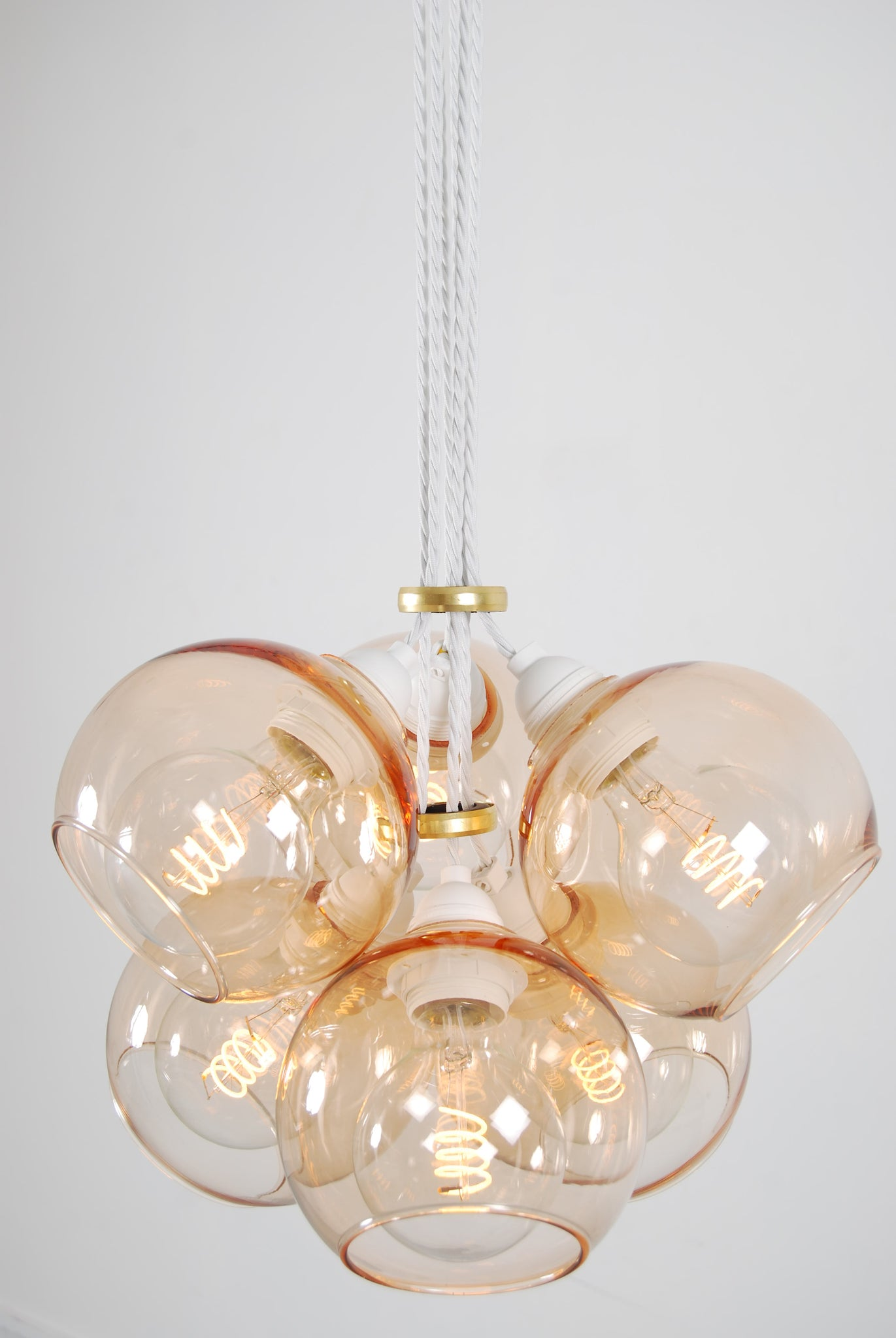 EXI Copper Glass Chandelier