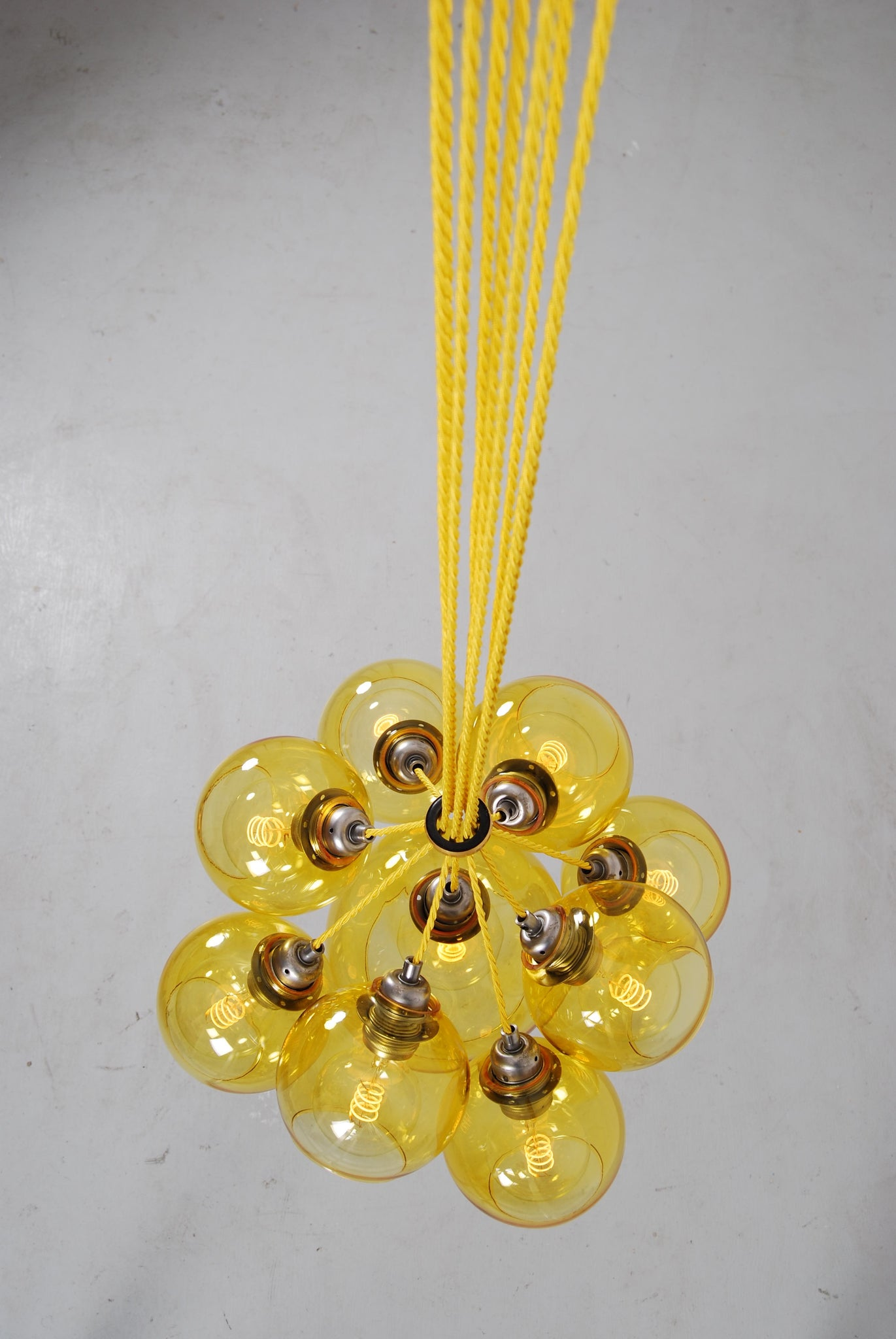 MEGA Yellow Glass Chandelier