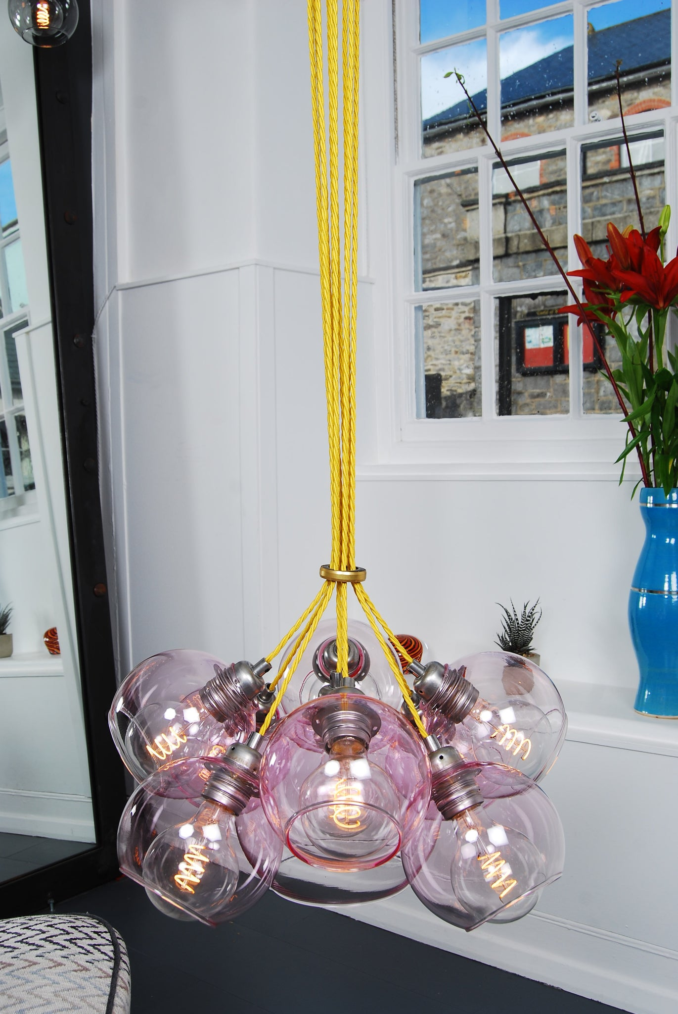 MEGA Pink Glass Chandelier