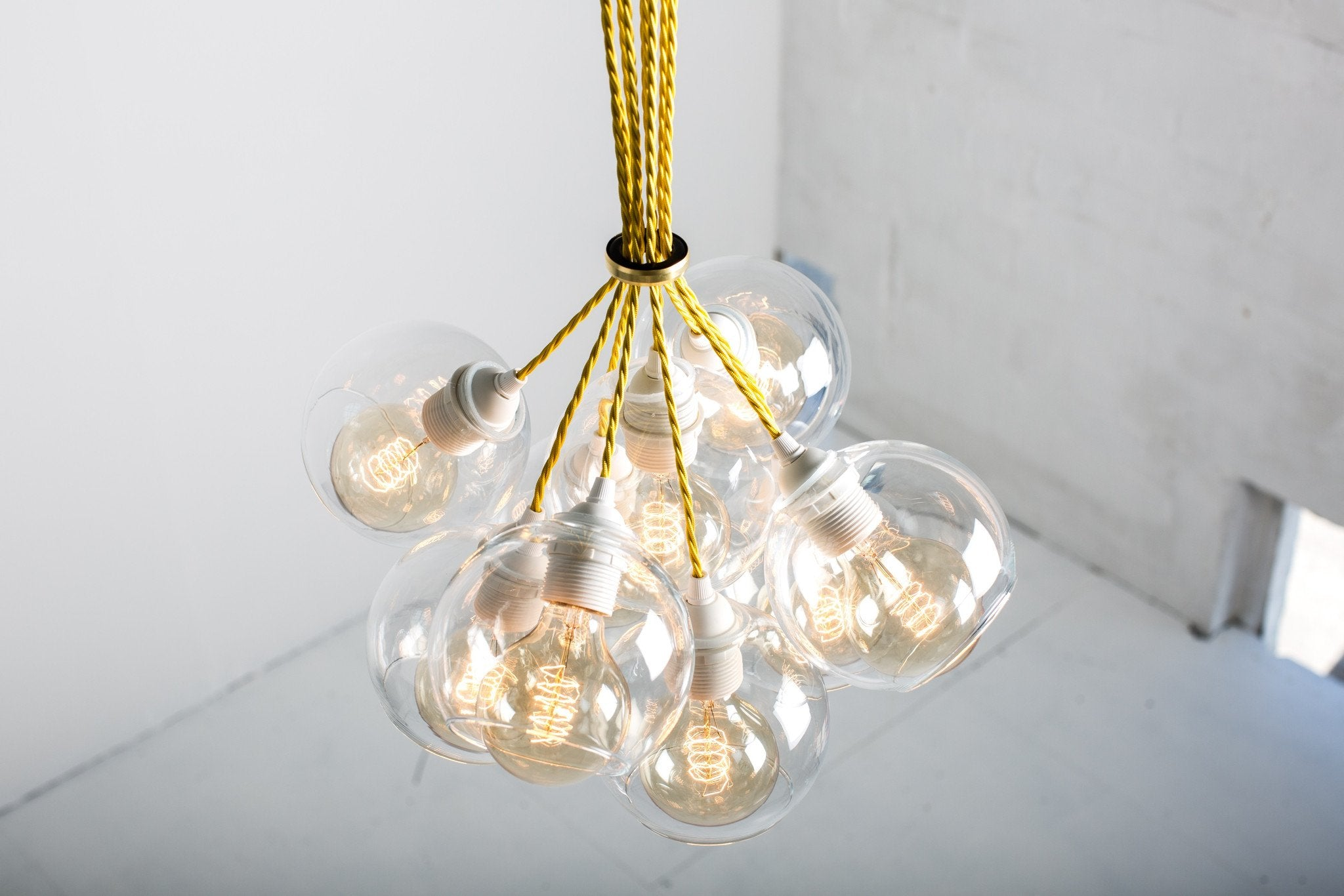 Atom 9 Clear Glass Chandelier Light Kit - Mushroom Designs