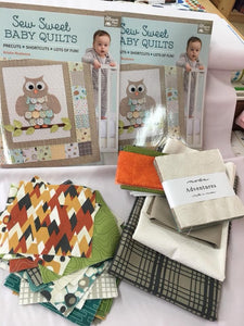 Adventure Owl Baby Quilt (Boy)- KIT WITH PATTERN
