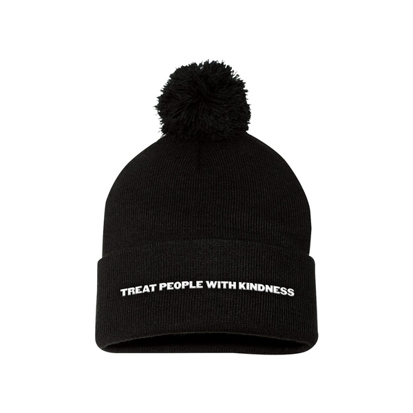 Treat People With Kindness Pom Beanie