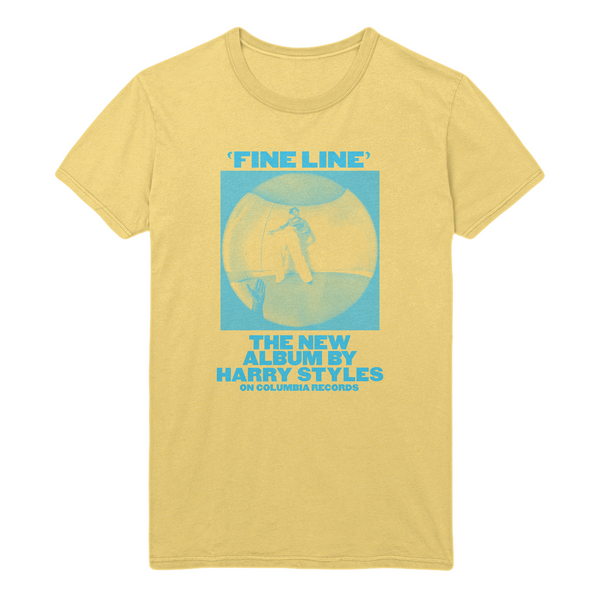 Yellow Vintage Fine Line Tee - Harry Styles EU