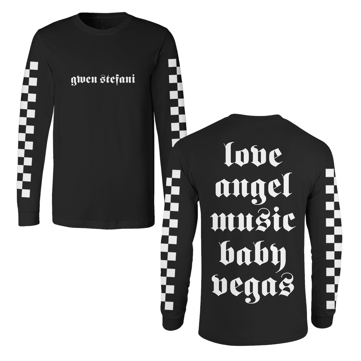 Love Angel Black Long Sleeve Tee - Gwen Stefani